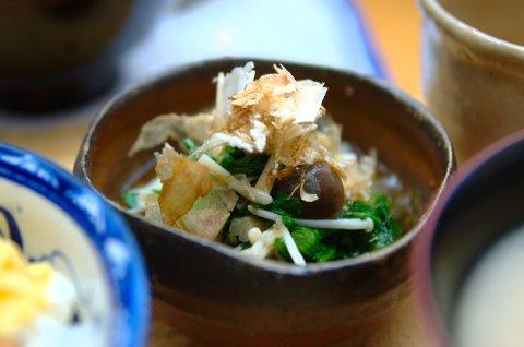 春菊とえのきの煮物
